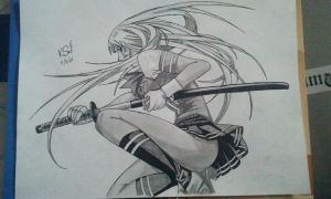 Christmas Drawing 1. Ikkitousen by killswitch90