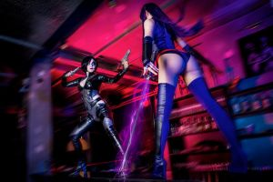 Domino vs Psylocke by OniksiyaSofinikum