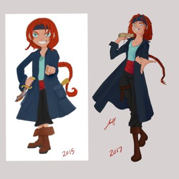 Pirate Girl Update by jmillgraphics
