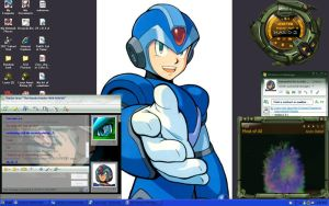 My latest Desktop Mega Man X by NightmareSaber