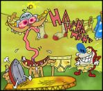 So Happy Ironing for STIMPY by mightyfilm