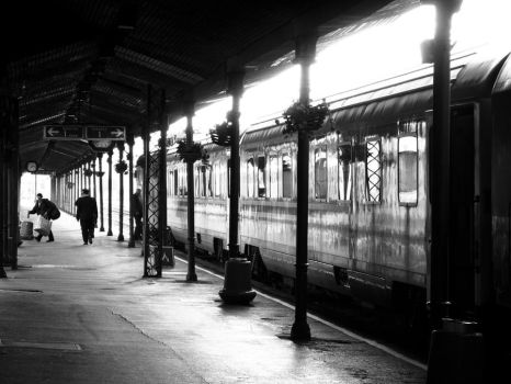Train station by UrosKrunic