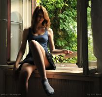 Melody at the window by Val-Mont