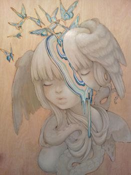 Melting Mind WIP by camilladerrico