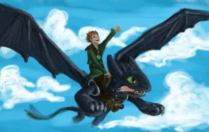 Toothless and Hiccup by sliplol