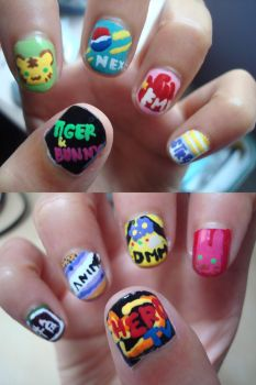 Nails: Tiger and Bunny by tykhm