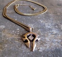 New WoW bronze Necklace by Peaceofshine