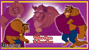 Beasts Wallpaper 2 - Prince Adam by BennytheBeast