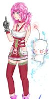 Serah Farron and Mog by ShadowChild71