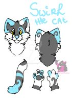 Swirl the Cat - fursuit design by FurryFursuitMaker