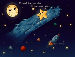 + If you'll be my star... + by nekomell