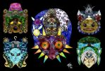 Majora's Mask Stained Glass by studioofmm