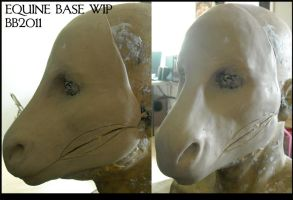 Equine Mask Base WIP by Magpieb0nes
