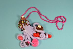 Deco Octopus Pendant by CephalopodCreations