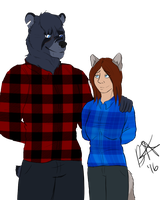 Flannel Twinsies pt. 2 by Bluethealpha
