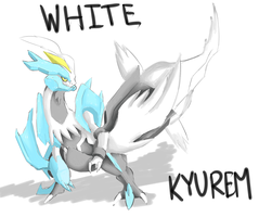 First Kyurem Drawing by MasaBear