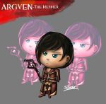 Guild Wars2 - Chibi Argven by Silverhyren