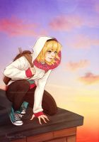 Casual Spider-Gwen by ribkaDory