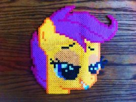 Perler Scootaloo by GeneralHound