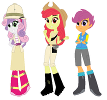 CMC EQG In Site B Outfits by Hubfanlover678