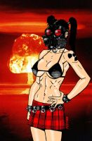 Gas Masked Gal Nuke Testing 2 by RedSpider2008