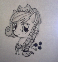 'Applejack Gala Dress' Traditional Drawing by TurboSolid