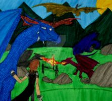 The Return of Dragon Riders by InkArtWriter