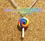 Rainbow Swirl Pop Necklace by xlilbabydragonx