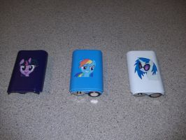 My Little Pony Xbox Character Battery Packs by Nightowl3090