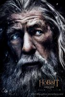 Colorful Gandalf - The Hobbit 3 Poster by Elisa-Gallion