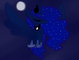 Behold, The Princess Of The Night by LittleCloudie