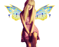 taylor swift with wings png by Sparklingbarbie