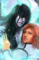 Ulquiorra and Orihime by Marizano