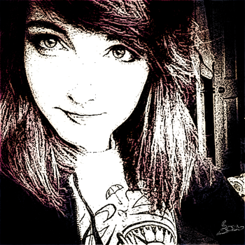 LDShadowLady Ink Sketch by FrostedParallama