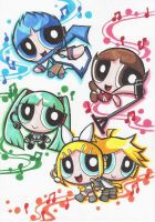 the Power Puff VOCALOIDs by Yang-Mei