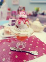 Ice cream and orange jelly 1/6 scale by LittlestSweetShop