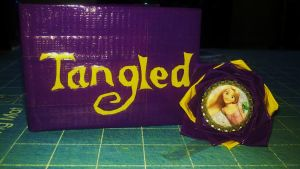 Tangled Duct tape wallet pen by Fairygirl1031