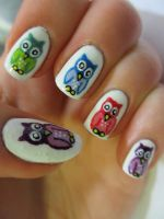 Colourful Owls by JofoKitty