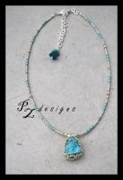 Chalk Turquoise Necklace by PurlyZig