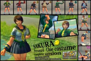 SSF4AE Sakura - P4 Chie costume MOD complete ver. by dsFOREST