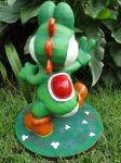 Yoshi Paperfigure (Back View) by BRSpidey