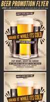 Beer Promotion Happy Hour Flyer Template by Hotpindesigns