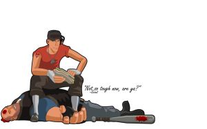 Tf2 Scout Wallpaper White by webbugt
