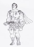 Centurion- Ink doodle by tarunbanned
