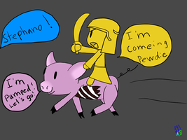 Stephano is here to save PewDiePie by Luckynight48