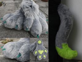 Ludo Feetpaws + Tail by Chibi-Alu