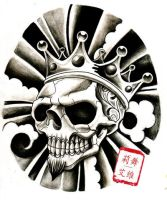 King skull black n grey by WillemXSM