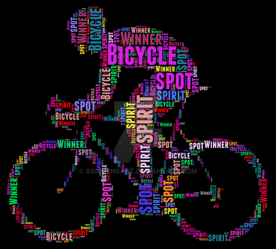 Bicycle best typography design by somsongart