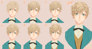How to paint Hair + Step by Step + feat. Newt by Nekuromii
