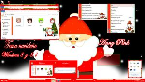 Tema Fiestas decembrinas para windows 8 y 8.1 by TutosLadyPink